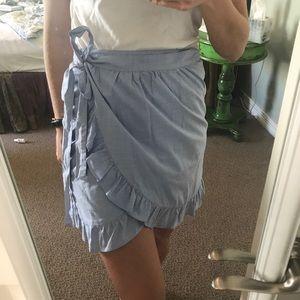 jcrew wrap skirt